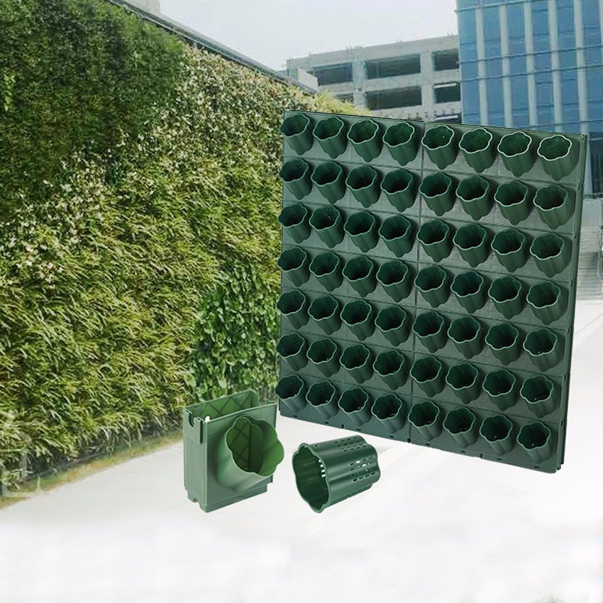 1-24pcs Three-dimensional Vertical Green Plant Pot Wall Hanging Flower Pot Multi-layer Combination Balcony Bonsai Garden Decor