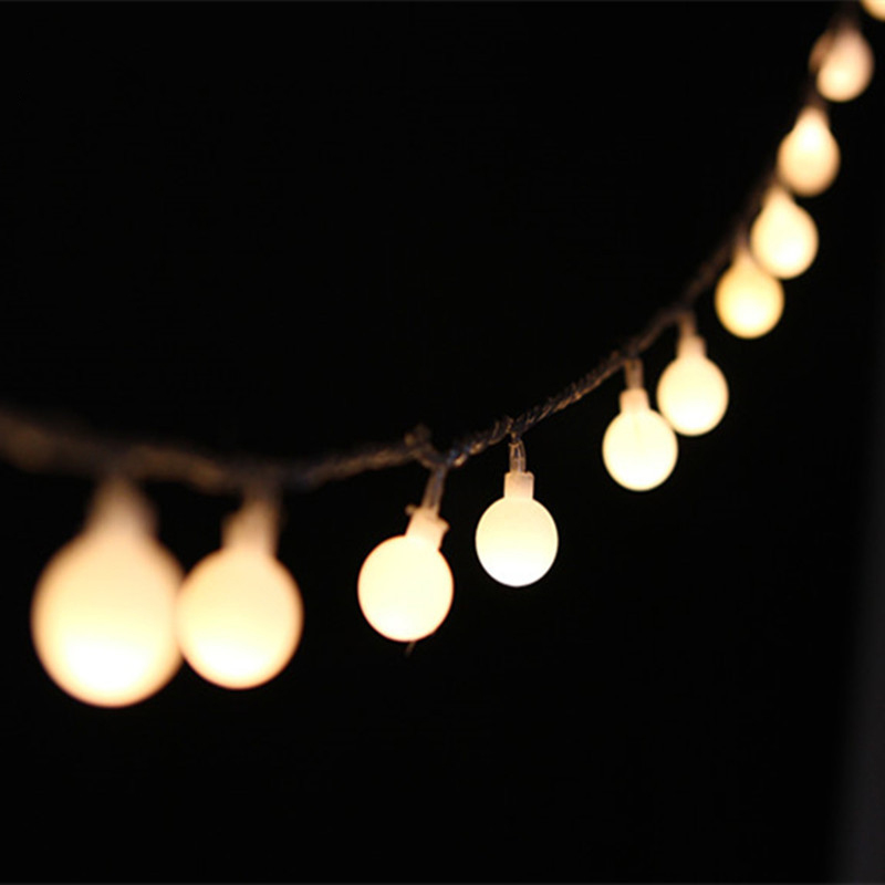 Garland Led String Light 20-50 Mini Ball 9 Color Romantic Holiday Christmas Home Party Decor Fantastic Night Light Lantern IL