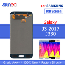 For SAMSUNG Galaxy J3 2017 LCD J330 J330F J330G Display Touch Screen Digitizer Assembly With Adhesive Tape
