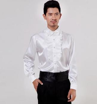 Volantes Chemise Blancos Servicio Con Homme Para CoralEnviar Camisas CamisaCorbata HombreTrajes Juegos De La Kc1TFlJ