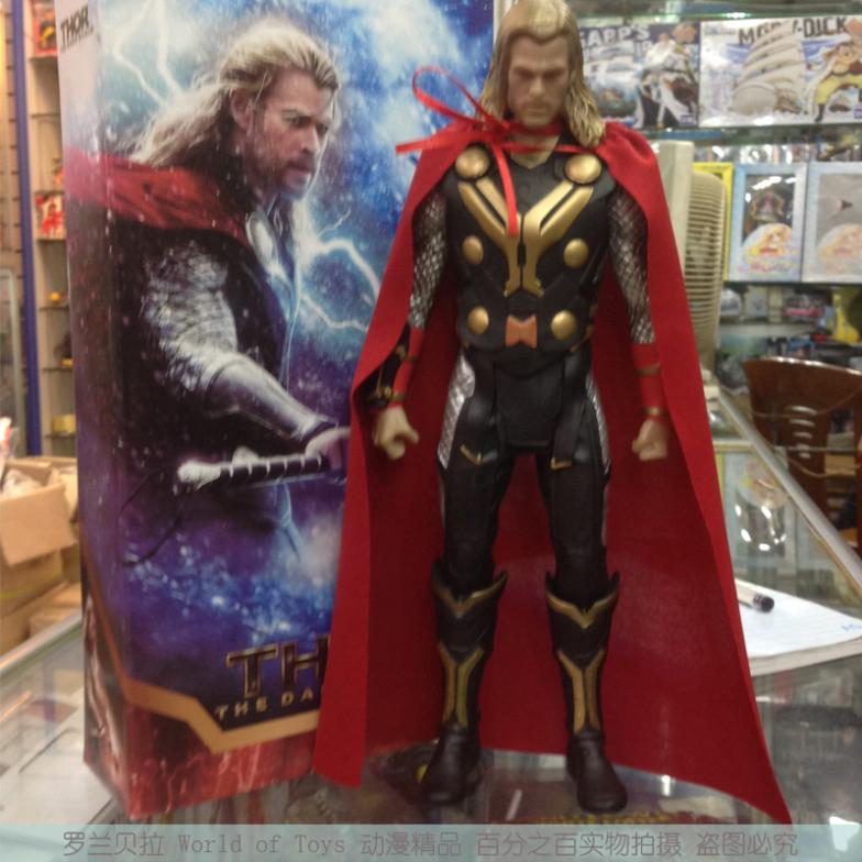 Super Heroes Thor 2 II The Dark World PVC Action Figure Model Toy 1640cm Free Shipping free shipping super big size 12 super mario with pingpang action figure display collection model toy