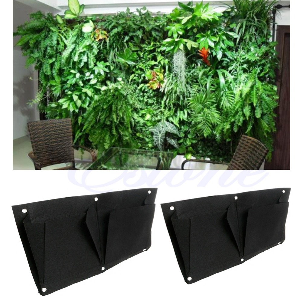 2 pocket transversal intérieur mur extérieur balcon jardin suspendu planteur sacchina mainland