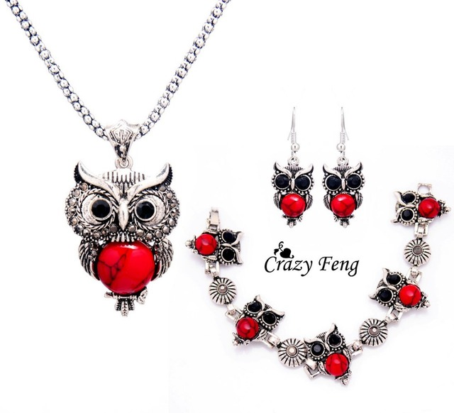 Crazy feng women retro tibetan silver stone crystal pendant necklace crazy feng women retro tibetan silver stone crystal pendant necklace bracelet earrings sets jewelry sets free aloadofball Image collections