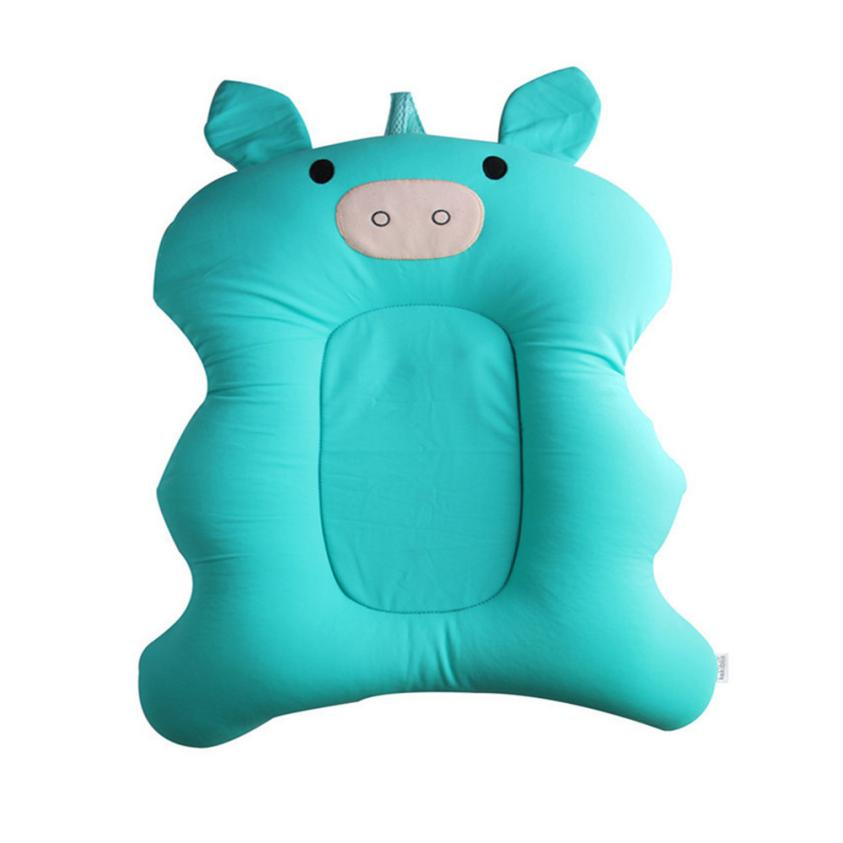 Ouneed Baby Foldable Baby Bath Infant Support Cushion Mats pillow cover warrior silk cover satin pillowcase Car Decor psw0713