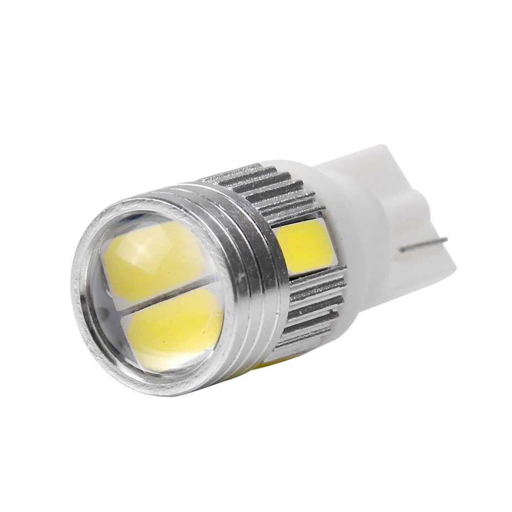 2 шт. автомобиль T10 W5W 168 194 6SMD 5630 Светодиодная клиновидная лампа супер белая сторона лампочки Canbus Error Free 12 В номерные знаки для автомобиля объектив проектора