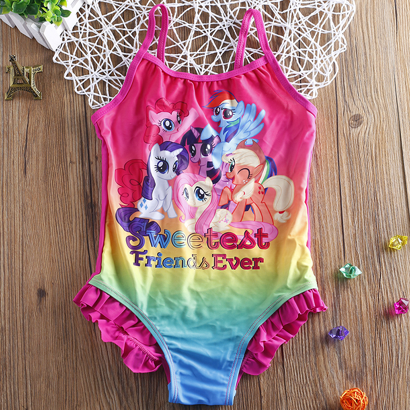 Kids & Baby Swimsuit Bathing Suit 2~12Y Girls Swimsuit One Piece Children Swimwear Beach Wear swimming suit-H023/SW325(China)