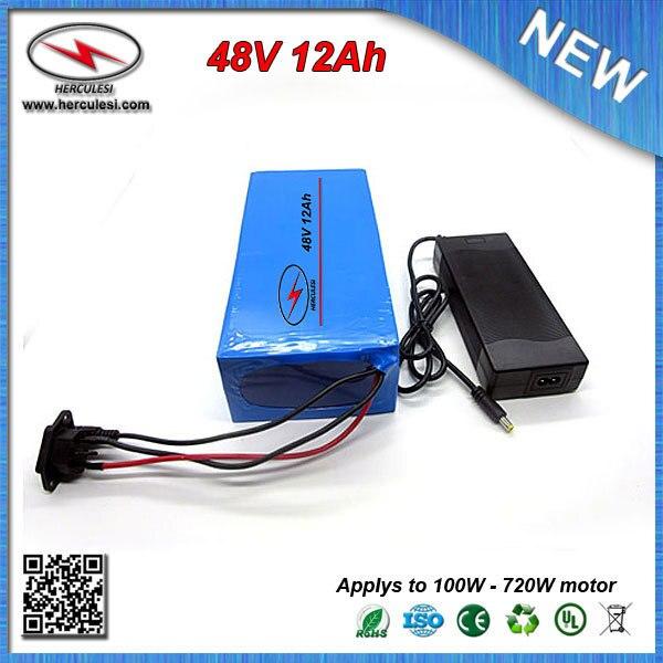 100-240V 48V 3A Charger For Li-ion 48V12AH Silver Case Rechargeable Battery Pack