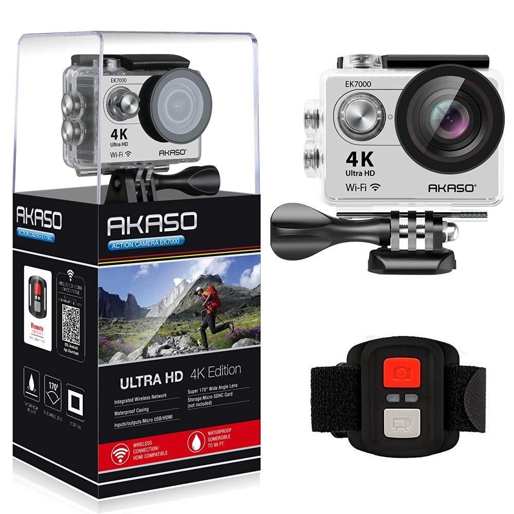 Оригинальная Экшн-камера AKASO 4K EK7000 с дистанционным управлением Ultra HD 4K WiFi 1080P 60fps спортивная водонепроницаемая профессиональная камера
