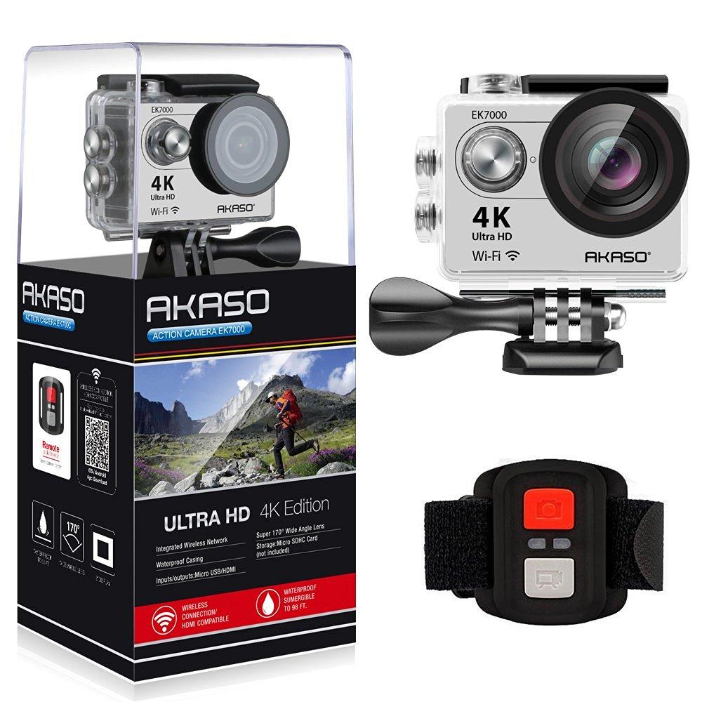 Akaso 4 k câmera de ação original ek7000 remoto ultra hd 4 k wifi 1080 p 60fps esportes à prova dwaterproof água pro câmera