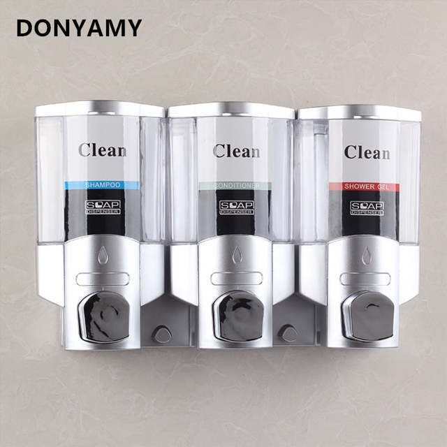 Donyamy Soap Dispenser For Bathroom Wall Dispensers Liquid Shower Shampoo Hand Refill Detergent