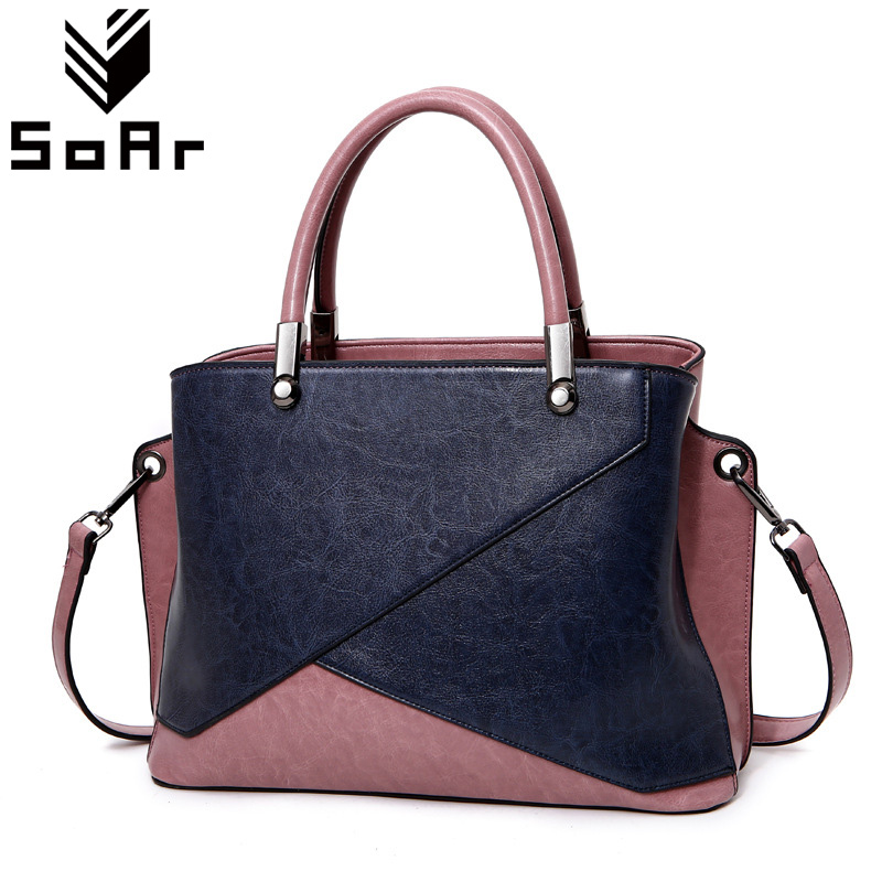SoAr Women Genuine Leather Bag Casual Tote Ladies Shoulder Bags Women Handbags Female Shopping Travel Messenger Bags Large New