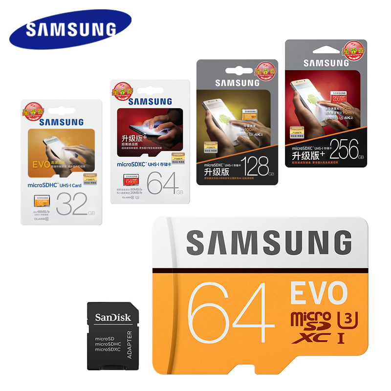 SAMSUNG Micro SD Card 128GB 64gb 32gb 256gb 100Mb/s Microsd Memory Card Flash TF Card for Phone with Mini Class10 free shipping ssk scrm 060 multi in one usb 2 0 card reader for sd ms micro sd tf white