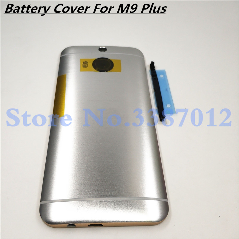 High Quality Gray / Gold / Silver Rear Housing For <font><b>HTC</b></font> <font><b>One</b></font> <font><b>M9</b></font> Plus Back Cover <font><b>Battery</b></font> <font><b>Case</b></font> Door With Buttons And Logo image