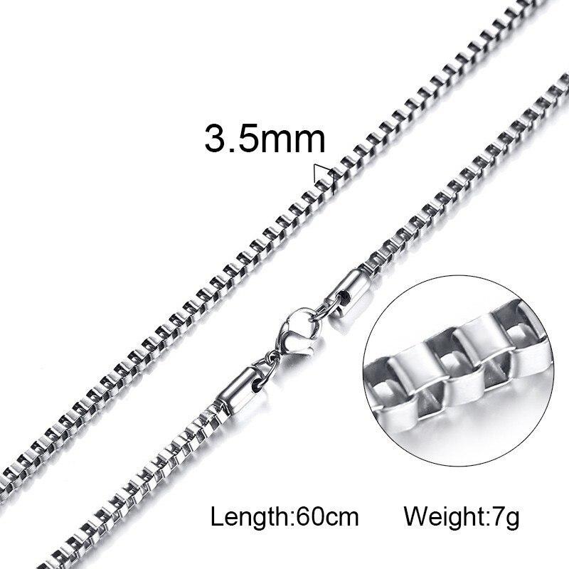 316L нержавеющая сталь серебряного цвета цепь для мужчин и женщин Итальянский стиль тонкий 2 мм 3,5 мм 4 мм 4,5 мм 5 мм ожерелья - Окраска металла: NC-004  picture 2