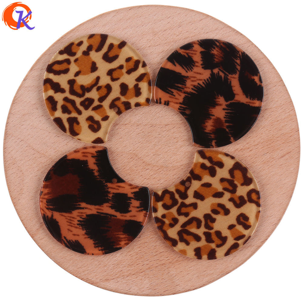 Cordial Design 34x38MM 50Pcs Jewelry Accessories/Earrings Making/Hand Made/Leopard Print Effect/Acetic Acid/Earring Findings