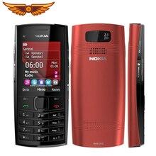 Разблокированный Nokia X2-02, одноядерный Symbian OS, Bluetooth, fm-радио, две sim-карты, 1020 мАч, черный и красный отремонтированный мобильный телефон