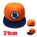 Desenhos animados dragon ball z son goku orange verão chapéu cospaly anime moda hip hop chapéu de beisebol ajustável snapback caps