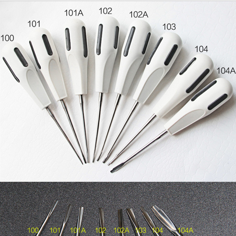8Pcs Stainless Steel Dental Luxating Lift Elevator Curved Root Elevator Dentistry Dentist Instrument Teeth Whitening Equipments