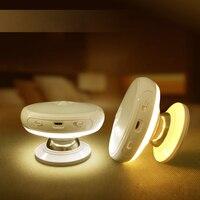 Tanbaby motionセンサーライト360度回転充電式ledナイトライトセキュリティ壁ランプ用ホーム寝室階段キッチン