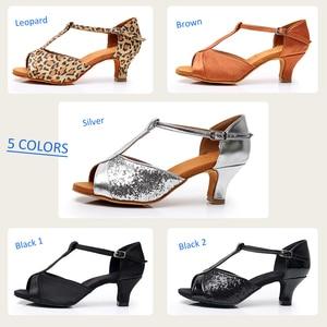 Image 3 - Alharbi Hot Sale Women Girls Ballroom Dance Shoes For Latin American Dances Salsa Sandals Tango Shoes 5/7cm Heels Dancing Shoes