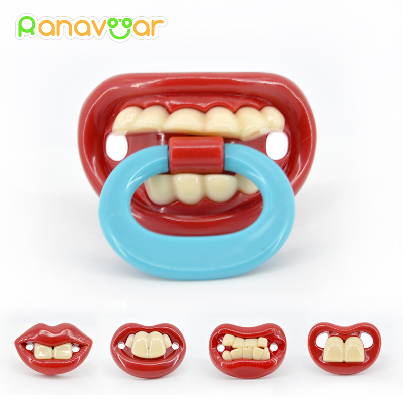 Funny Dummy Dummies Pacifier Novelty Buck Teeth Moustache Babys Child Soother Beard Nipples Kids Safe Pacifier