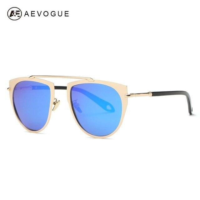 AEVOGUE Polarized Sunglasses Women Single Girder Brand Designer Lens Coatings Alloy Frame Sun Glasses With Box UV400 AE0445