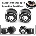 Motorcycle Skull Front Axle Cover Blot Caps For Harley Davidson Sportster XL883 XL1200 48 Softail 08-13 Dyna Glide Road King