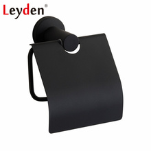 Leyden Black 304 Stainless Steel Toilet Paper Holder Wall Mounted Bathroom Accessories Toilet Tissue Holder Toilet Paper Rack phasat q7 005 wall mounted stainless steel toilet paper holder silver