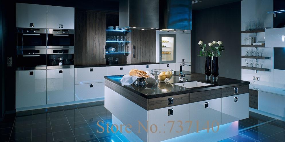 Economy Melamine Kitchen Cabinet Mix Color Kitchen  Cabinet Foshan Factory China Furniture