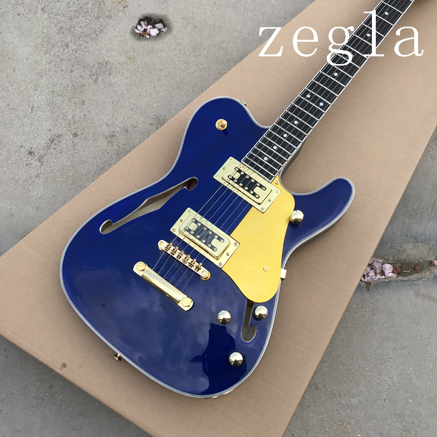 Factory direct telecast electric guitar tl blue guitar real guitar pictures details on show high quality free shipping