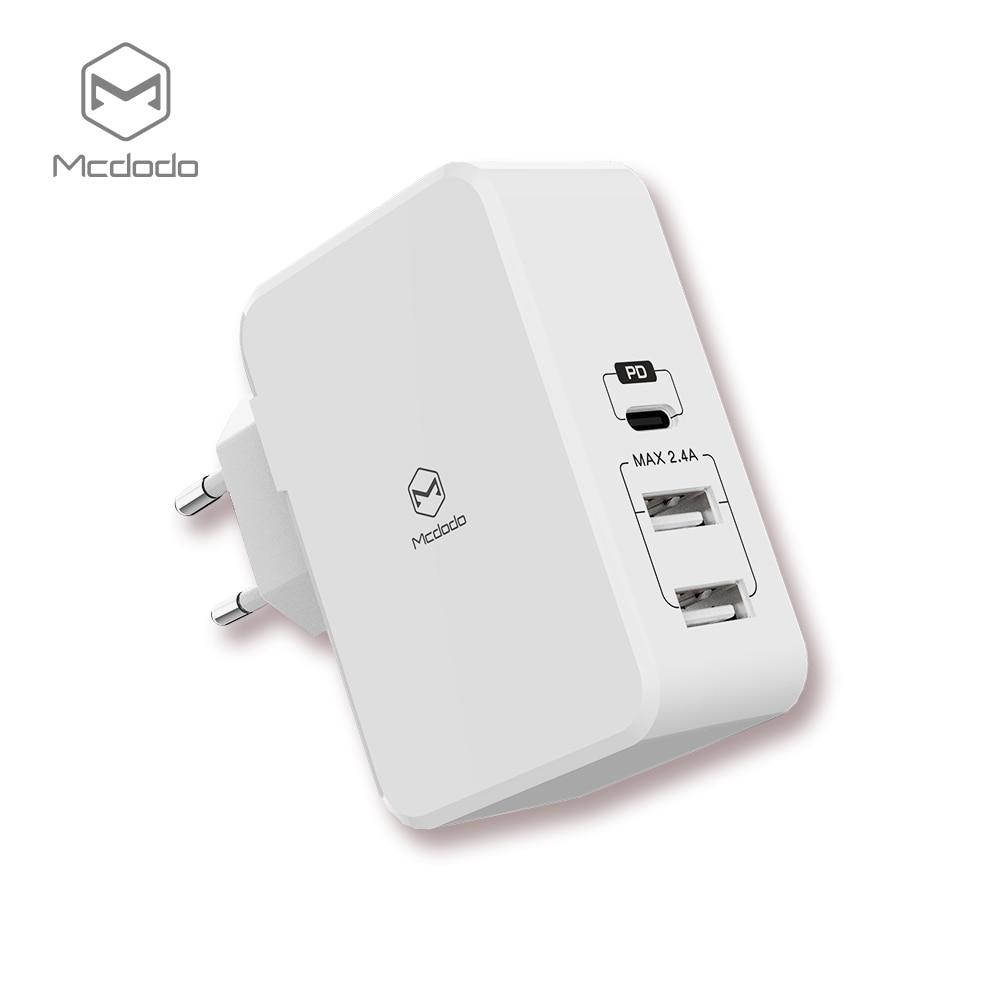 Mcdodo USB PD 29 W Rapide Chargeur pour iPhone X 8 Plus Type c usb-c Charge Rapide De Charge Double USB Chargeur pour Samsung Xiaomi Huawei