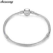4 Styles Snake Chain Bangle Bracelet 925 Sterling Silver Sta