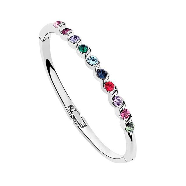 Hot Sale Austria Crystal Bangle Bracelet Small Wrist Bangles