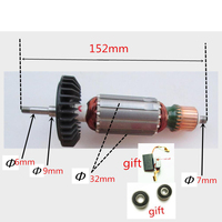 Rotor Motor Armature AC220 240V For MAKITA 9553HB 9553HN 9557NB 9554NB 9553NB 9555NB Angle Grinder Accessories