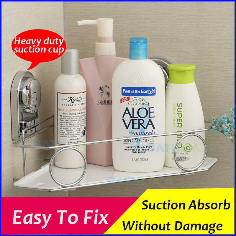 Shampoo Holder Suction Cup Shower Holder Bath Shelf Bathroom Wall Mounted Shower Caddy Organizer