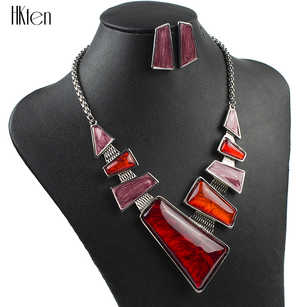 MS1504137 Fashion Brand Jewelry Sets Silver Plated Red Necklace Sets High Quality Wedding Jewelry Unique Design Party Gifts