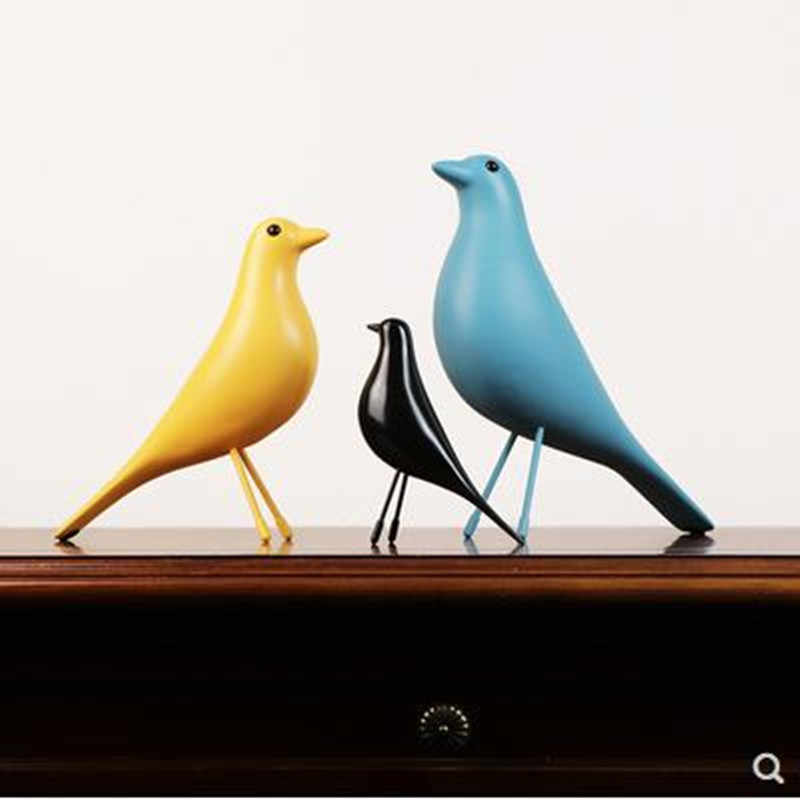 Original European resin bird figurine home interior decoration Craft Wedding Christmas gift dove of peace statue office mascot