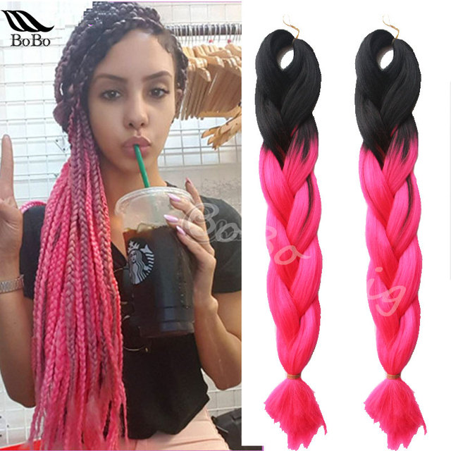 24 5pcspack Ombre Kanekalon Jumbo Braids Hair Synthetic Weave