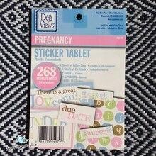 Deja Views Decorative Sticker Tablet 268 Adhesive Pieces For DIY Album Photo Scrapbook Decoration Pregnancy Series 8sheets/Set