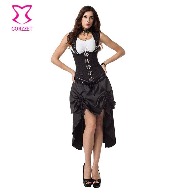 aliexpresscom buy black steel boned underbust corset
