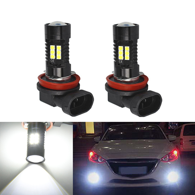 DOTAATDW 2x Super White <font><b>H8</b></font> H11 <font><b>CREE</b></font> Chip 3030 <font><b>LED</b></font> Fog Light Driving Bulbs For mazda 3 5 6 xc-5 cx-7 axela atenza image