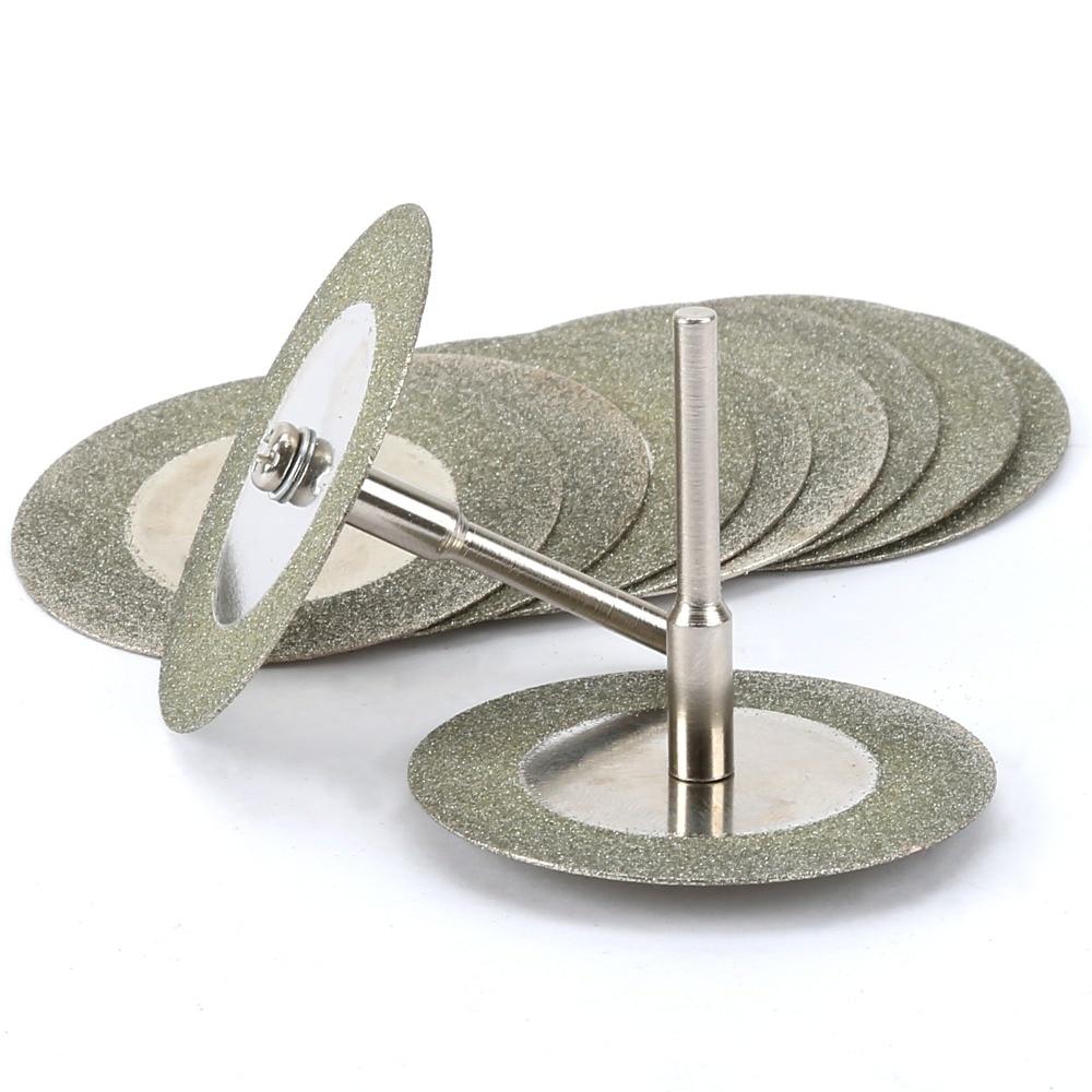 10pcs 35 mm diamant coupe disque de roue Cutter Cut-off STONE Métal Outil Rotatif