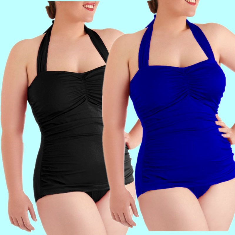 One Piece Swimsuit Women Swimwear Female Beachwear 2017 One-Piece Suit Bathing Suit Beach Wear Swimsuits Solid Retro one piece women swimsuit solid vintage swimwear female beachwear one piece bathing suit black swimsuits for girls sexy 2017