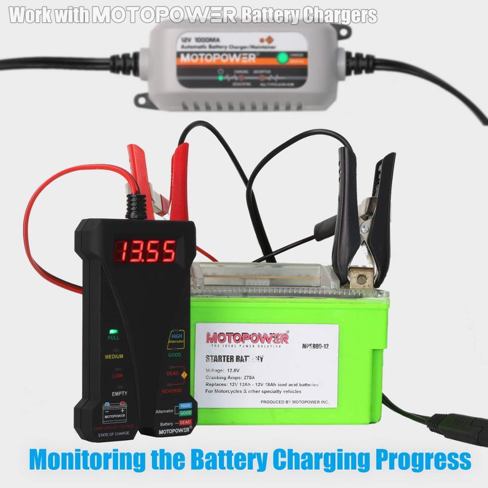 MOTOPOWER MP0514A LCD ve LED ekranlı 12 V Dijital Araç Akü Test - Araba Parçaları - Fotoğraf 3