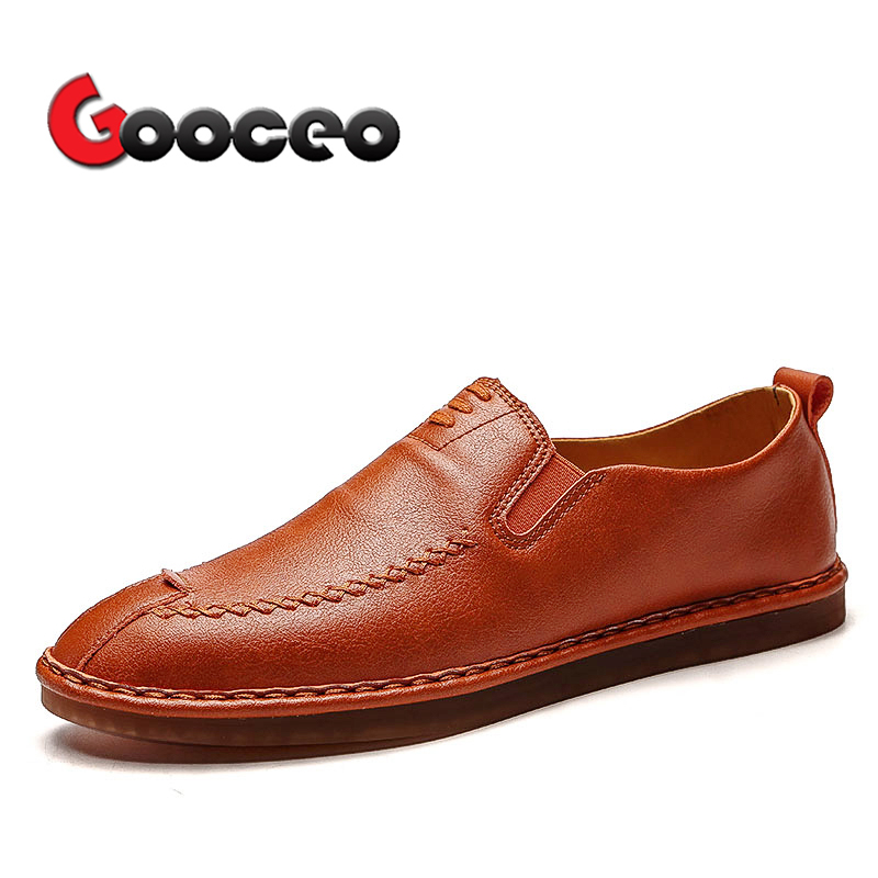 Mens penny Loafers Driving Shoes Moccasins For Men Flat Spring Summer Low-top Slip-On Fa ...