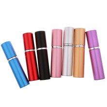 5 мл алюминиевый многоразовый парфюмерный флакон с распылителем, бутылка распылитель, портативные пустые косметические контейнеры, распылитель, флакон для путешествий