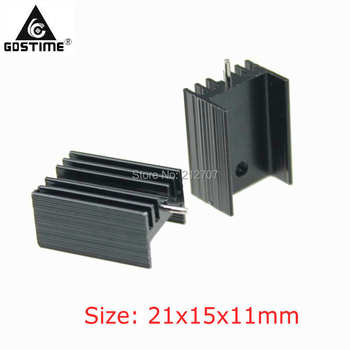 20 Pieces/lot 21x15x11mm Radiator Cooler Cooling Aluminum TO220 TO-220 Heatsink 20pcs lot free shipping the power ic top233yn top233y top233 to220 5 power 20 pieces lot page 7