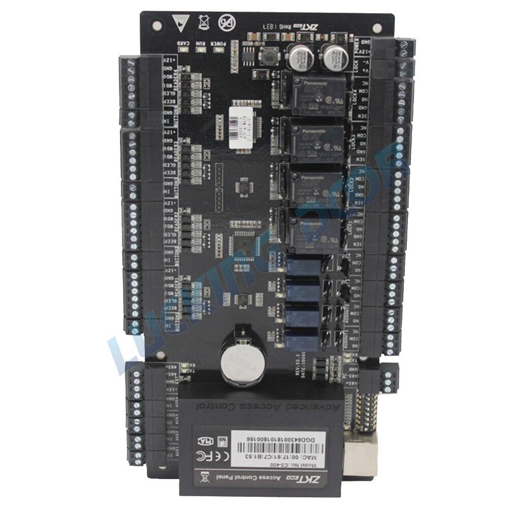 ZK C3-400 Porta Painel de Controle de Acesso por impressão digital ZKTeco TCP IP-based e RS485 Comunicação Wiegand Controle de Acesso Avançado 26- bit