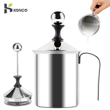 Konco Handheld Milk Frother Portable and Powerful Foam Maker for Make Cappuccinos, Lattes, Bulletproof Keto Coffee Handhel