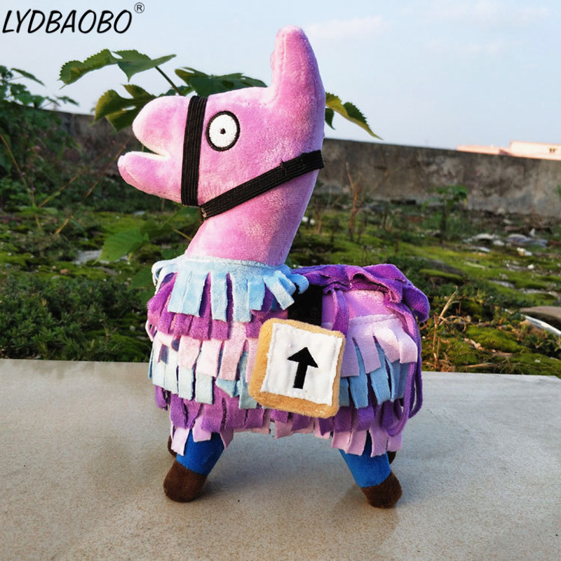 LYDBAOBO 1PC 35CM Cartoon Fortnite Troll Stash Llama Plush Toys Hot Game Soft Alpaca Rainbow Horse Doll Children Birthday Gifts